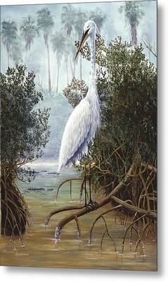 Great White Heron Metal Print by Kevin Brant