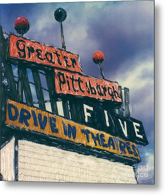 Greater Pittsburgh Five Drive-in Metal Print by Steven  Godfrey