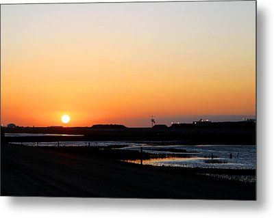 Greater Prudhoe Bay Sunrise Metal Print by Anthony Jones