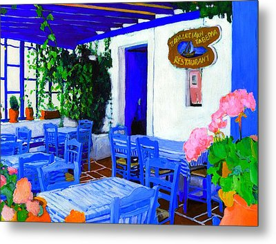 Greece Metal Print by Vel Verrept