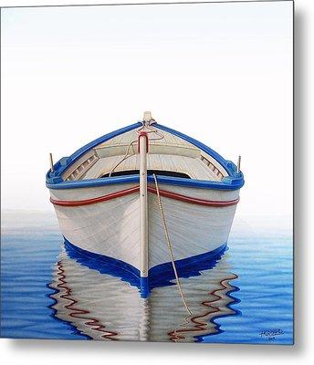 Greek Boat Metal Print by Horacio Cardozo