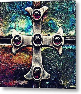 Greek Cross 3 Metal Print by Sarah Loft