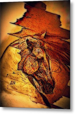 Greek Horse Metal Print