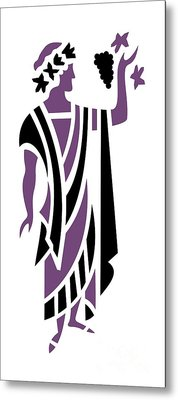 Greek Man In Purple Metal Print by Donna Mibus