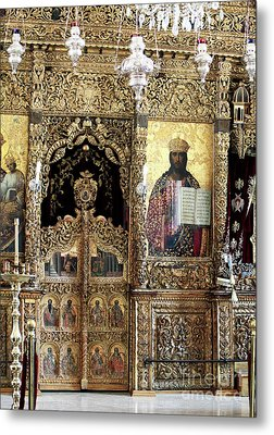 Greek Orthodox Alter Metal Print by John Rizzuto