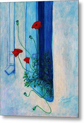 Greek Poppies Metal Print