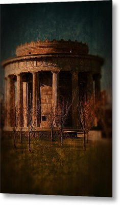 Greek Temple Monument War Memorial Metal Print by Angie Tirado