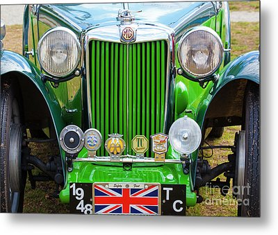 Metal Print featuring the photograph Green 1948 Mg Tc by Chris Dutton