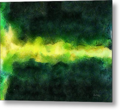 Green Abstract Metal Print by Russ Harris
