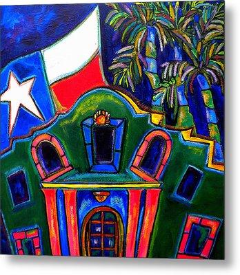 Green Alamo Metal Print by Patti Schermerhorn