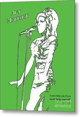Green Amy Metal Print by Pablo Franchi