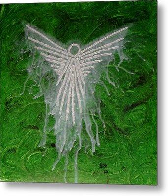 Green Angel Metal Print by Bo Klinge