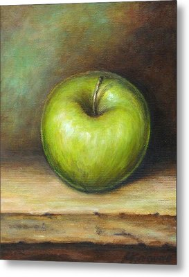 Green Apple Metal Print by Mirjana Gotovac