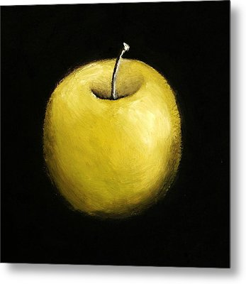 Green Apple Still Life 2.0 Metal Print by Michelle Calkins