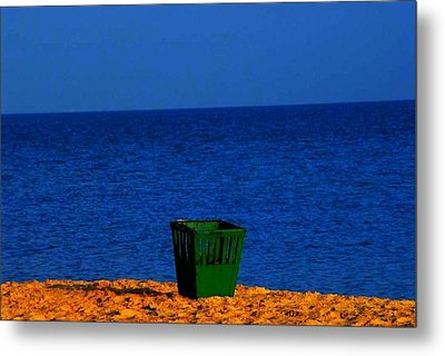 Metal Print featuring the photograph Green Basket by Votus