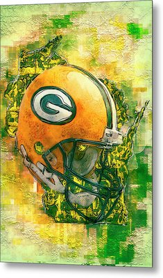 Green Bay Packers Metal Print by Jack Zulli