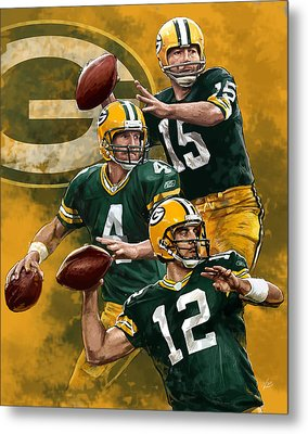 Green Bay Packers Quarterbacks Metal Print