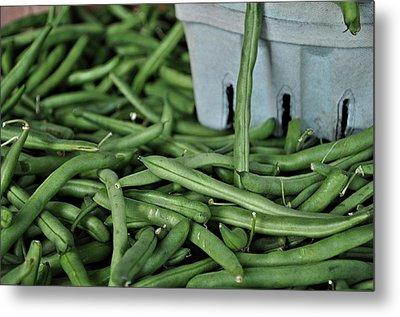 Green Beans Metal Print by William Jones