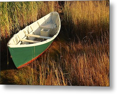 Green Boat Metal Print
