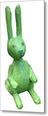Green Bunny Metal Print by Maria Rosa