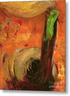 Green Death Metal Print