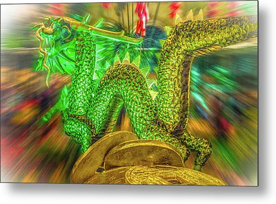 Green Dragon Metal Print by Mark Dunton