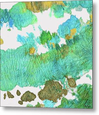 Green Earthy Abstract - Earth Dance - Sharon Cummings Metal Print by Sharon Cummings
