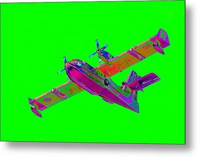 Green Fire Flight  Metal Print