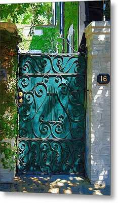 Green Gate Metal Print