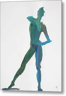 Green Gesture 2 Pointing Metal Print