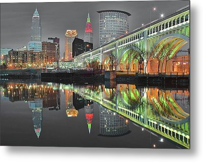 Metal Print featuring the photograph Green Glow by Frozen in Time Fine Art Photography