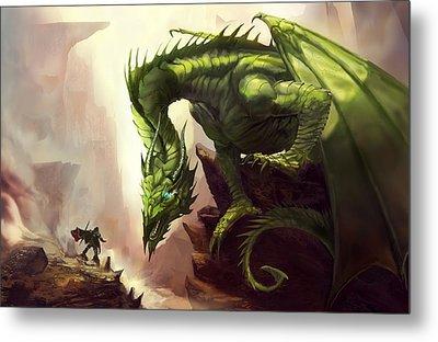 Green God Dragon Metal Print by Anthony Christou