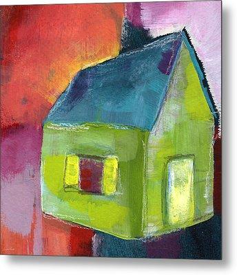 Green House- Art By Linda Woods Metal Print by Linda Woods