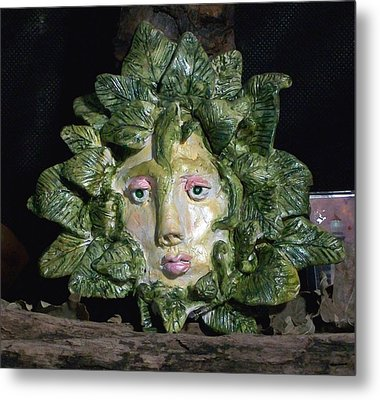 Green Lady Metal Print