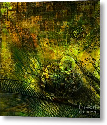Green Lantern Metal Print by Monroe Snook