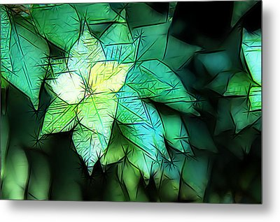 Green Leaves Metal Print by Carol Crisafi