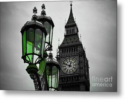 Green Light For Big Ben Metal Print by Donald Davis