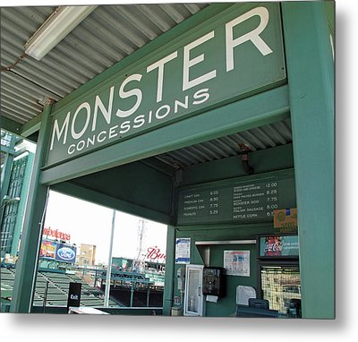 Green Monster Concession Stand Metal Print by Barbara McDevitt