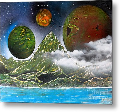Metal Print featuring the painting Green Mt.  4686 by Greg Moores