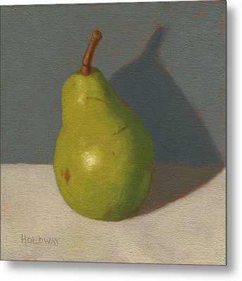 Green Pear Metal Print