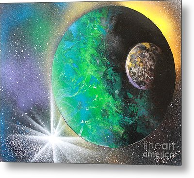 Metal Print featuring the painting Green Planet 4672 by Greg Moores