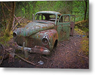 Green Relic Metal Print by Cathy Mahnke