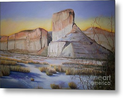 Metal Print featuring the painting Green River Wyoming by Marlene Book