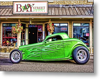 Green Roadster Metal Print by Carol Leigh