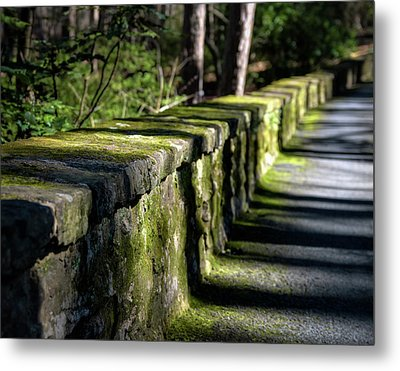 Metal Print featuring the photograph Green Stone Wall by James Barber