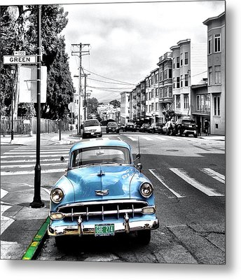 Green Street Metal Print by Julie Gebhardt