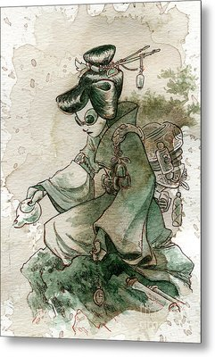 Green Tea Metal Print by Brian Kesinger