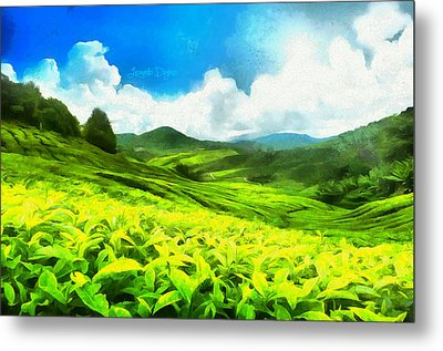 Green Tea - Da Metal Print by Leonardo Digenio