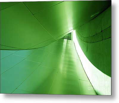 Metal Print featuring the photograph Green Tunnel. Los Angeles Series. by Ausra Huntington nee Paulauskaite