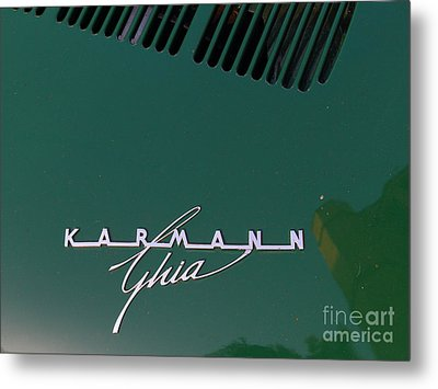 Green Volkswagon Karmann Ghia . 7d10091 Metal Print by Wingsdomain Art and Photography